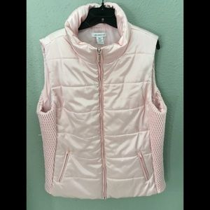 Liz Claiborne Vest with Quilted Sides